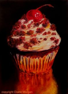 """Cake Crumbs"" oil on canvas 6""x 8"", painting by artist Diane Morgan"