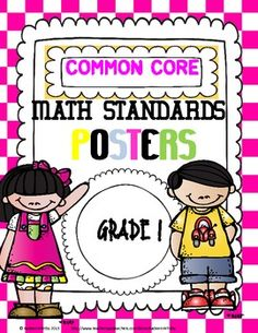 Common Core Math Standards Posters 1st Grade