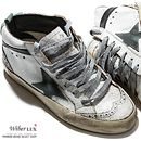 Today's Hot Pick :14SSGOLDEN GOOSEVintage Mid-Top Sneakers(Mint Star)G24U634 B4 http://fashionstylep.com/SFSELFAA0005333/wiberluxen/out Genuine vintage looking sneakers. In an stylish old white leather color, with a lace up front, printed tongue and features a mint green suede star design. Mid-top style with soft and comfy insole and a thick durable rubber sole. Pair it with distressed skinny jeans for a unique and edgy attitude.