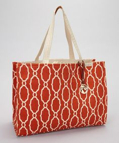 Take a look at this Orange & Cream Sallie Ann Market Tote by Spartina 449 on #zulily today!