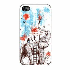Elephant Happy Flower Xianmie iPhone 4/4s Case