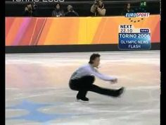 """Johnny Weir in Torino 2006 performing to """"The Swan""""."""
