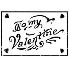 Unmounted Rubber Stamp To My Valentine by CarolynsStampStore