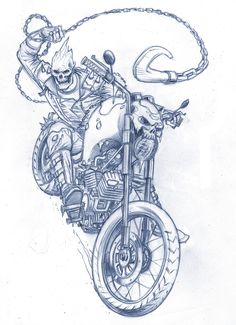 Ideas for motorcycle girl tattoo awesome Ghost Rider Drawing, Ghost Rider Tattoo, Dark Drawings, Cool Drawings, Pencil Drawings, Ghost Raider, Ghost Rider Wallpaper, Joker Cartoon, Marvel Art