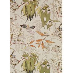 May Gibbs (Australian, Gumnut babies. Textile Prints, Textile Patterns, Print Patterns, Textiles, Australian Art, Australian Vintage, Baby Tattoos, Flower Fairies, Fabric Wallpaper