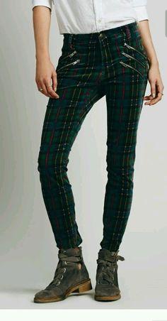 "Free People ""Porter Plaid"" Velvet Skinny Pants/Jean Size 27 NWOT Tartan in Clothing, Shoes & Accessories, Women's Clothing, Pants | eBay"