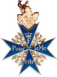 Between 1740-1918, a total of 5,430 Pour le Mérite were awarded, 208 Pour le…
