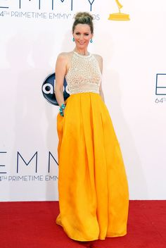 i was drooling over this dress last night. BRILLIANT. and loved the turquoise earrings.