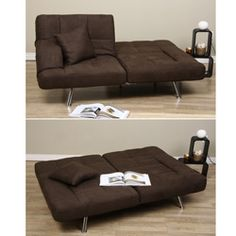 Dark Brown Microfiber Sofa Bed | Overstock.com Shopping   The Best Deals On  Sofas