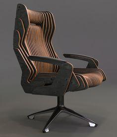 chair concept design , your comment? Via Photo by oleg tyrnov on Classic Furniture, Unique Furniture, Diy Furniture, Furniture Design, Furniture Cleaning, Furniture Dolly, Retro Furniture, Furniture Stores, Parametric Design