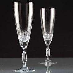 2 Vintage Sektgläser Champagnergläser Kristall Gläser ~ 60er 70er Jahre W6E