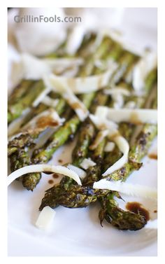 Balsamic Grilled Asparagus - One of my absolute faves done on the grill and it's so simple to make this elegant side.