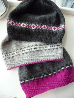 close knit: Fair Isle Fun. No pattern but love the colors!!