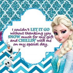 Frozen Birthday Party, Disney Frozen Printables, Frozen Party Pack, Frozen Thank You Card, Frozen Theme Party, Frozen Fever Party by GiggleBeanParties on Etsy