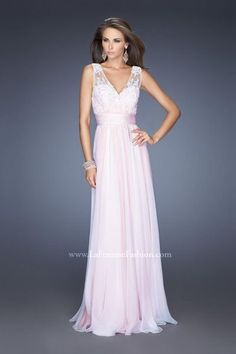 4bdb8d39dc2 Check out the deal on Size 00 White-Nude La Femme 19735 Enchanting Gown at. French  Novelty