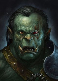 Orc, Aleš Böhm on ArtStation at https://www.artstation.com/artwork/orc-32c0b935-867f-4e1e-ab0c-27a063e228af