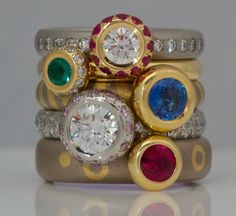 Beautiful rings by David Ashton, London