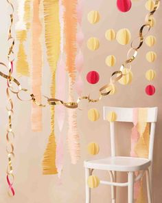 Garlands are a quick way to bring color and style to any event.