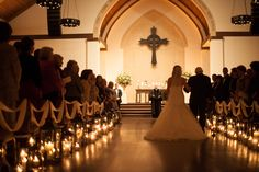 Wedding Aisle - candles, candles, candles.