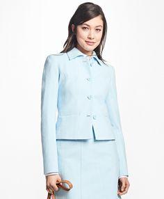 Four-Button Stretch-Cotton JacketLight Blue
