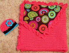 Reversible Fabric and Crochet Blanket by ScrumptiousCrochet, $50.00