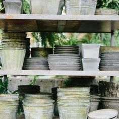 Zinc Planter Tray in Garden PLANTERS Trays + Saucers at Terrain