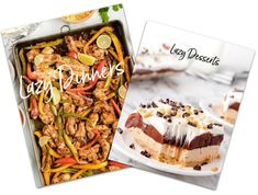 The Lazy Cooking Bundle - 50% Off Lemon Dessert Recipes, Strawberry Cake Recipes, Custard Recipes, Fun Desserts, Easy Eat, Easy Food To Make, Easy Casserole Recipes, Beef Casserole, Quick Recipes