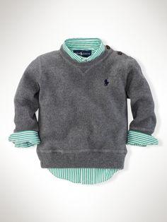 Crewneck Sweater - Sweaters   Infant Boy (9M-24M) - RalphLauren.com