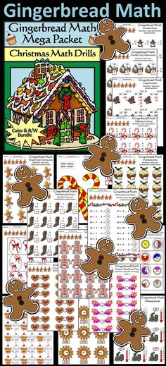 Gingerbread Math Drills Christmas Mega Activity Packet: Gingerbread Math Mega Packet Includes: Contents included: * Addition * Subtraction * Addition in Series * Greater Than/Less Than * Operations in Series * Multiplication * Division * Long Divisi