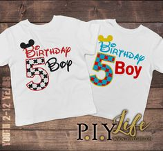 Child T-Shirt  Mouse Ears Birthday Boy Toddler or by ThePIYLife