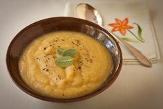 Creamy parsnip-leek soup from Recipe Renovator, gluten-free and vegan