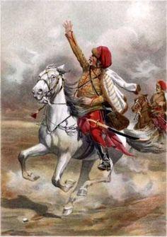 """Húsar del regimiento húngaro pálffy /ebergényi, comienzoS del siglo XVIII.   En 1688, en el curso de las continuas guerras contra el rey francés Luis XIV, el coronel de caballería húngara Adam Czobor recibió el encargo de formar dos regimientos de húsares. Reclutó el regimiento """"Czobor"""" y un segundo regimiento, que se convirtió en propiedad de János Pálffy, Yerno de Czobor.  Se trata de los regimientos más antiguos de húsares magiares oficialmente al servicio de los habsburgo."""