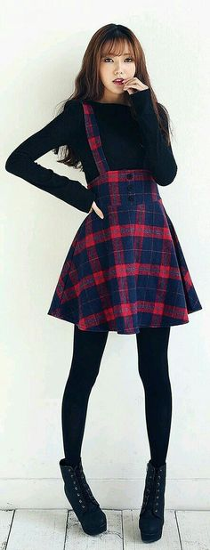 F / W season novelties - Frauen Outfit Ideen - Mode Kawaii Fashion, Cute Fashion, Look Fashion, Girl Fashion, Winter Fashion, Womens Fashion, Fashion Ideas, Fashion 2016, Teenager Fashion
