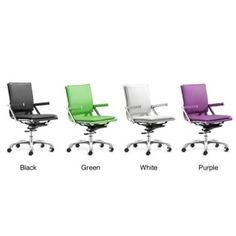 @Overstock - Materials: Steel  Finish: Chrome  Upholster materials: Leatherettehttp://www.overstock.com/Home-Garden/Manhattan-Plus-Modern-Office-Chair/6173207/product.html?CID=214117 $217.04