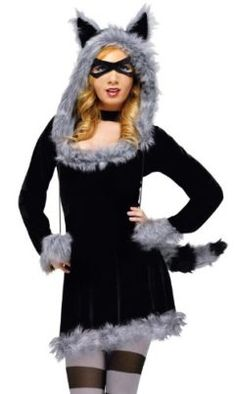 Fun World Womens Racy Raccoon Costume Tag someone who can pull this off! #Fantasy #Halloween #Costume