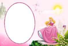Princess Aurora Transparent PNG Kids Frame