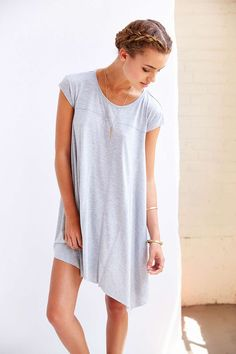 BDG Carina Oversized T-Shirt Dress - Urban Outfitters| completely love the simplicity of this outfit. It would look great with Juju Jelly Sandals