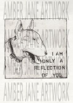 Set of 2 etchings, perception of dogs, Staffordshire cross and bull terrier, digital download print, instant download, A4 by AmberJaneArtwork on Etsy