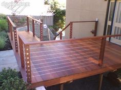Ipe deck with stainless steel cable railing