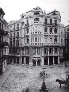 Málaga, Spain. Plaza de Feliz Sáenz. Años 50.