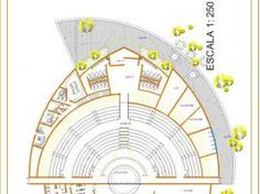 Plan Autocad d'un Théâtre en plein air dwg • Hellocoton.fr