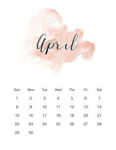 Free Printable 2018 Watercolor Wash Calendar - The Cottage Market Small Calendar, Free Printable Calendar, Free Printables, Creative Calendar, Monthly Calendars, Calendar Calendar, Calendar Ideas, Advent Calendar, Calendar Wallpaper