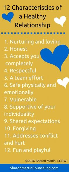 12 Characteristics of a healthy relationship
