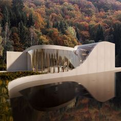 Located on the lake Türlersee in Switzerland, this contemporary vacation house has been recently designed by Wafai Architecture for a small family. Parametric Architecture, Futuristic Architecture, Amazing Architecture, Contemporary Architecture, Art And Architecture, Contemporary Design, Villa Design, Modern House Design, Round Building