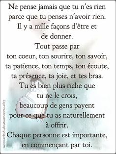 French Words, French Quotes, Positive Mind, Positive Vibes, Words Quotes, Life Quotes, Illness Quotes, Soulmate Love Quotes, Quote Citation