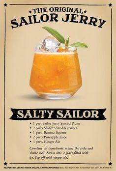 Stoli Salted Caramel & Sailor Jerry cocktail