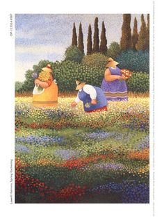 Spring Gathering, Art Print by Lowell Herrero