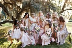 pink bridal party / Christian Oth