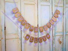 Happy 1st Birthday Banner, Name with Stars Optional, Lavender and Gold Banner, Twinkle Little Star Birthday Decorations Girls 1st Birthday by PaperEtcStudio on Etsy