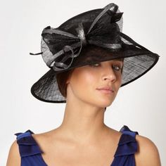 Hatbox Black double loop bow hat- at Debenhams.com